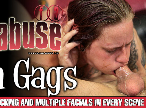 Gloria Gags Gets Face Fucked